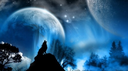 Wolf Howling at the Red Moon Wallpaper 62+ pictures