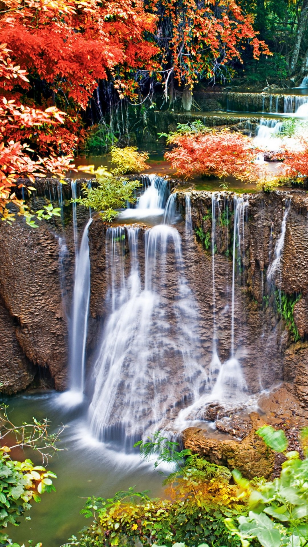 Fall Wallpaper 1080x1920 Waterfall Wallpaper 73 Pictures