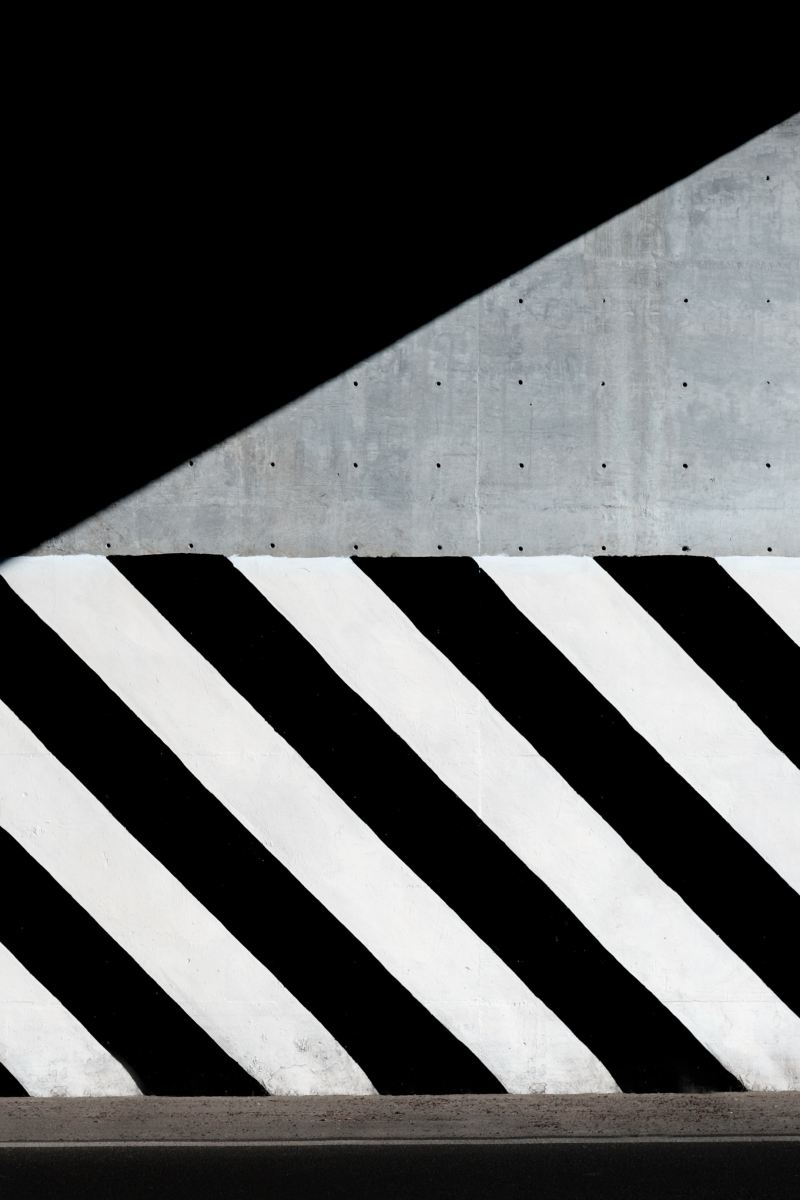 Black and White Stripes on a Concrete Wall (Background ...