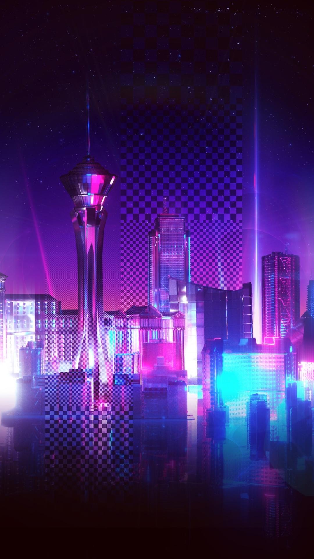 Neon City, Purple Racing Phone Wallpaper – Wallpapers For Tech