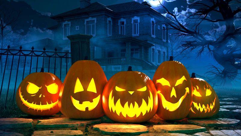 Cute Pumpkin Wallpaper Iphone Wallpaper Halloween Moon Cemetery Night Pumpkin