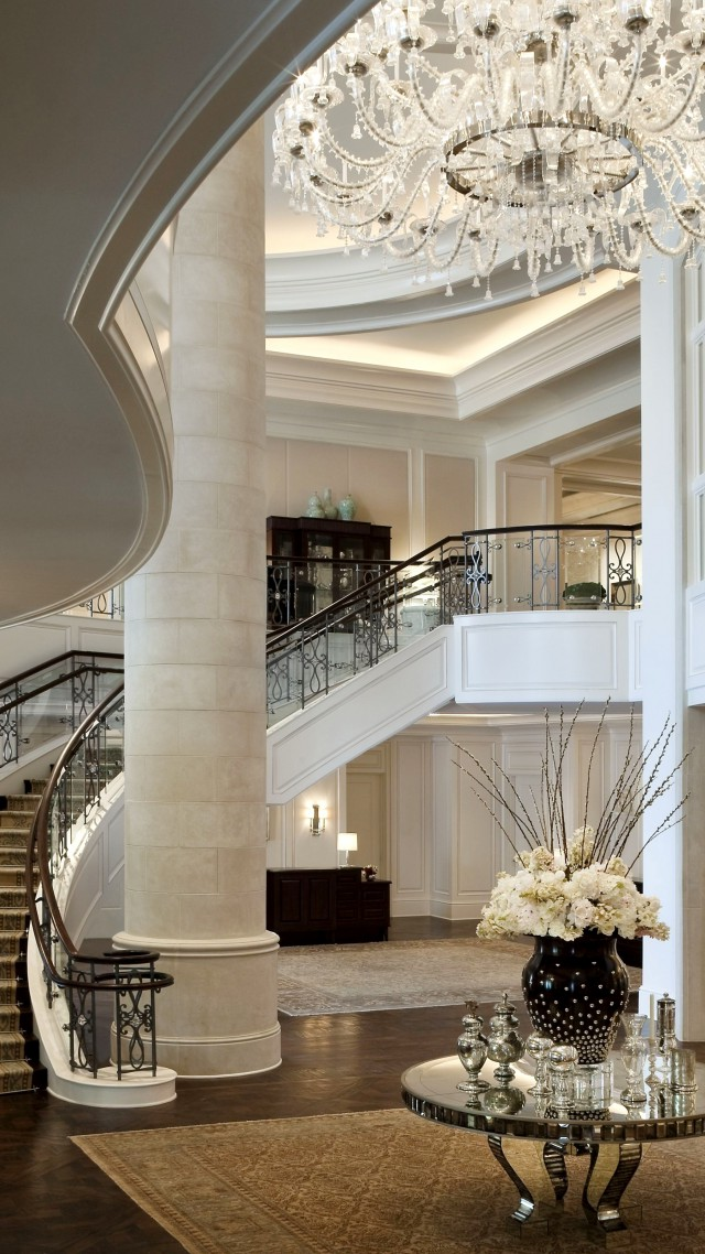 Wallpaper Mandarin Oriental Hotel classical white rich castle inside stairs room living