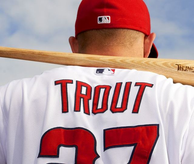 Top Baseball Players Mike Trout Los Angeles Angels Of Anaheim Vertical