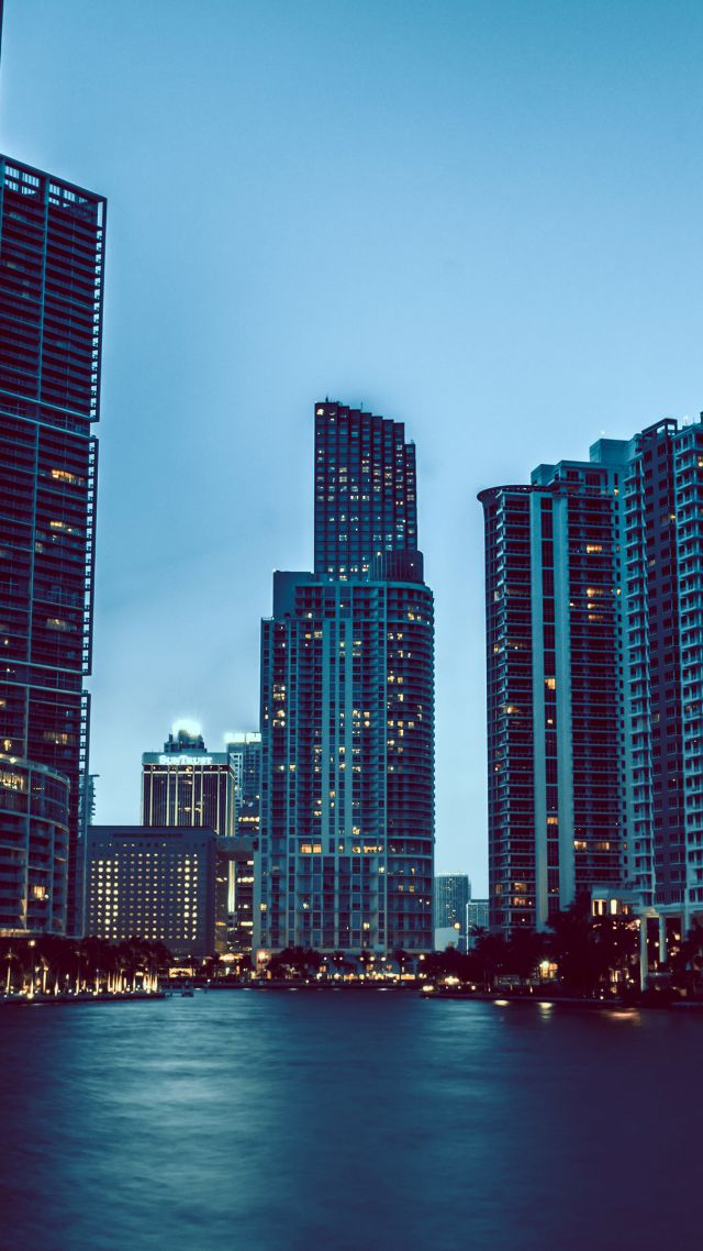 Wallpaper For Girls Room Uk Wallpaper Miami Skyscrapers Night Cityscapes Tourism