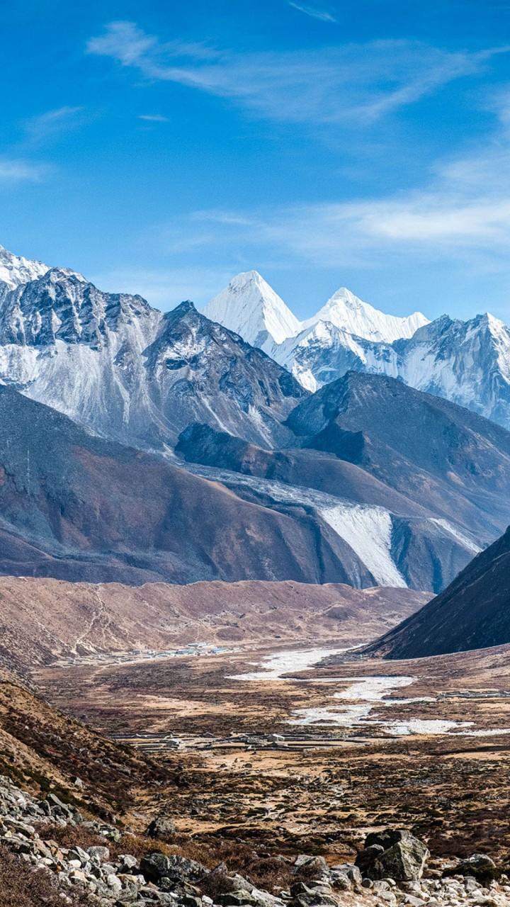 Wallpaper Hd Clouds Wallpaper Ama Dablam Nepal Mountains 4k Nature 16555