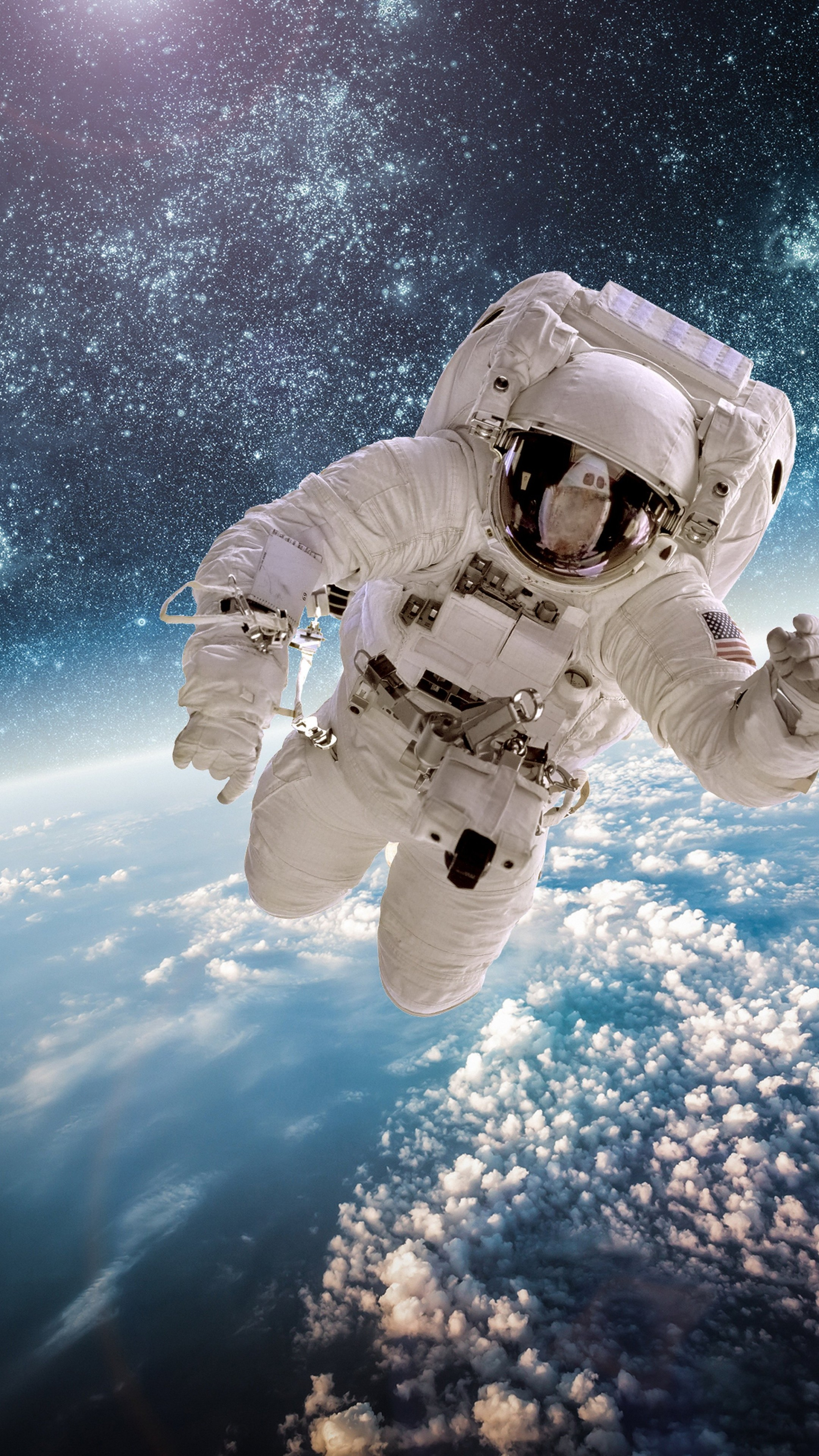 Iphone X Funny Wallpaper Wallpaper Astronaut Stars Space Galaxy 5k Space 17776