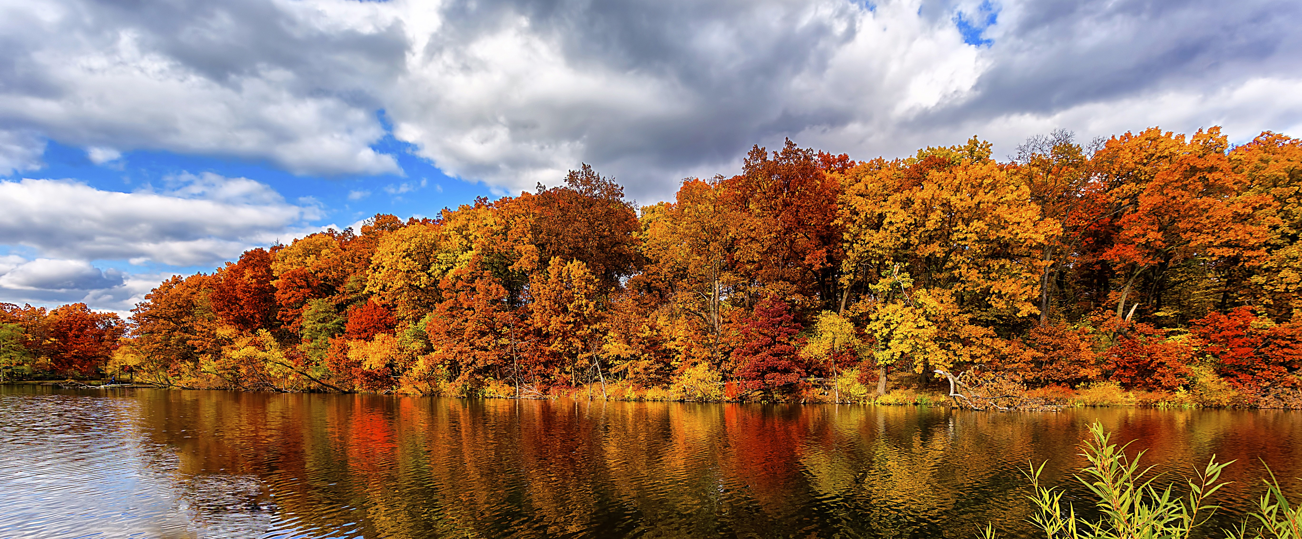 Rustic Fall Desktop Wallpaper Wallpaper Autumn Forest Lake 5k Nature 15480