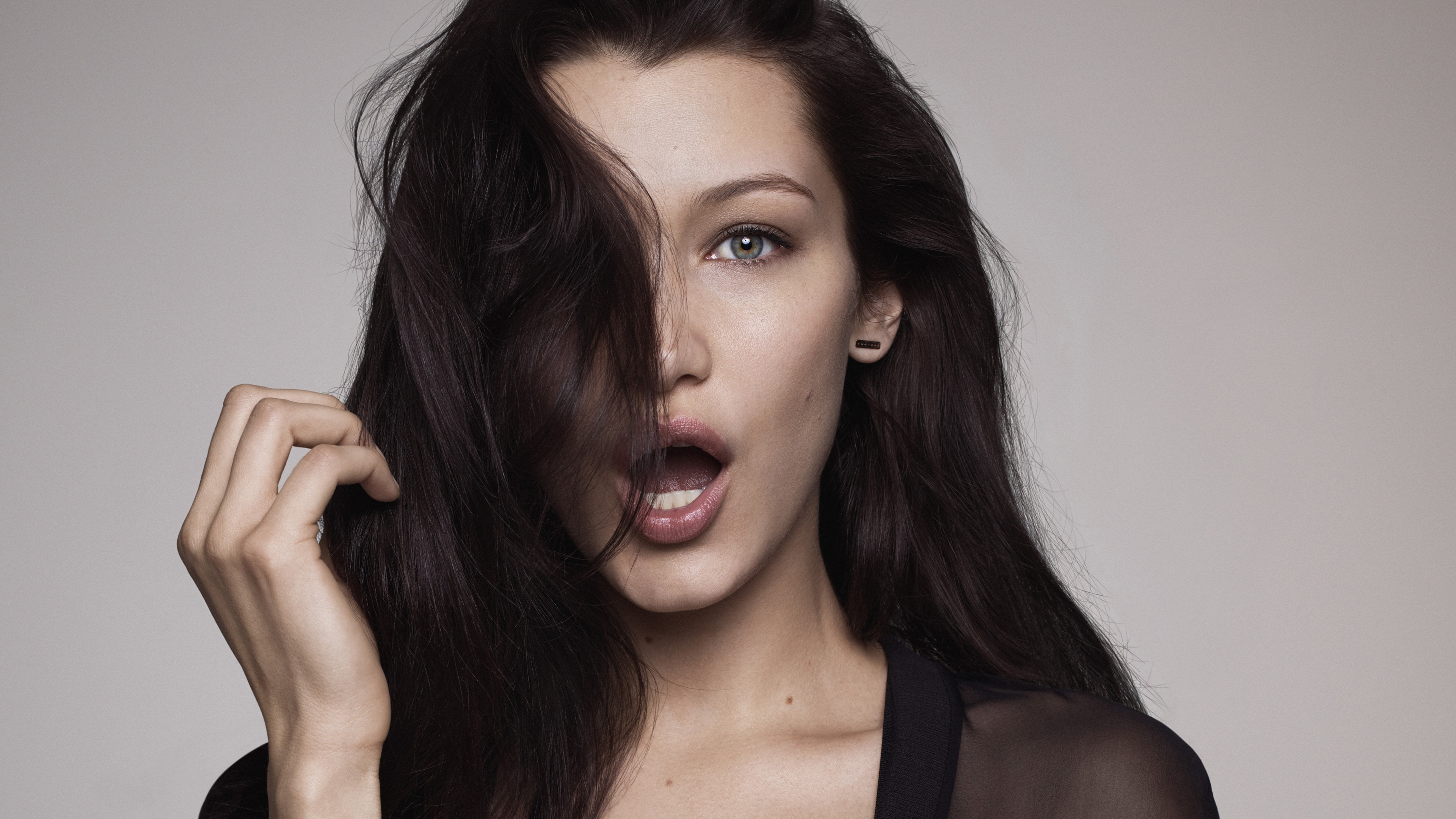 Hd Wallpaper Girl Face Wallpaper Bella Hadid Beauty 4k Celebrities 16121