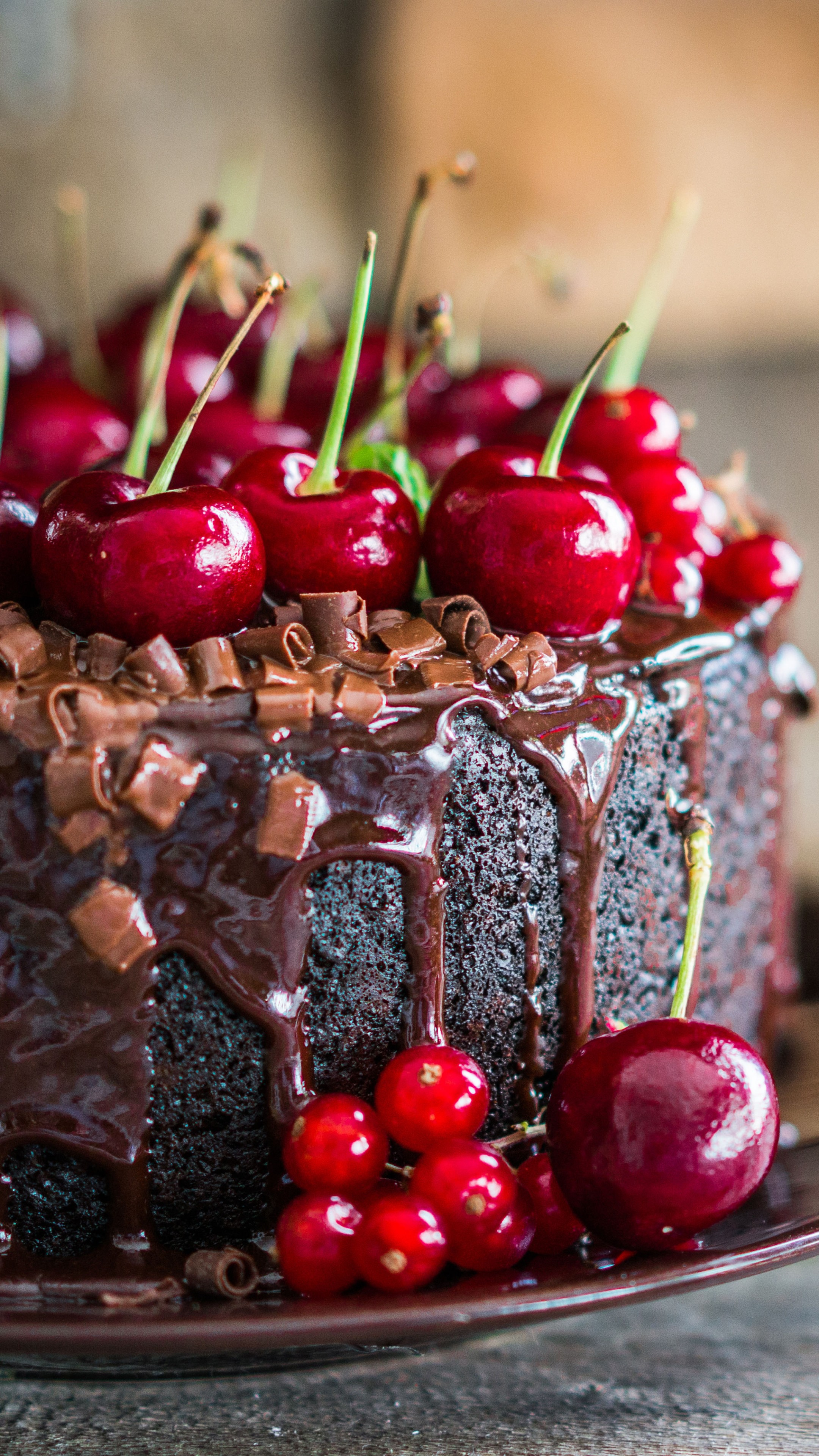 Wallpaper Cake Receipt Chocolate Cherry 5k Food 17068