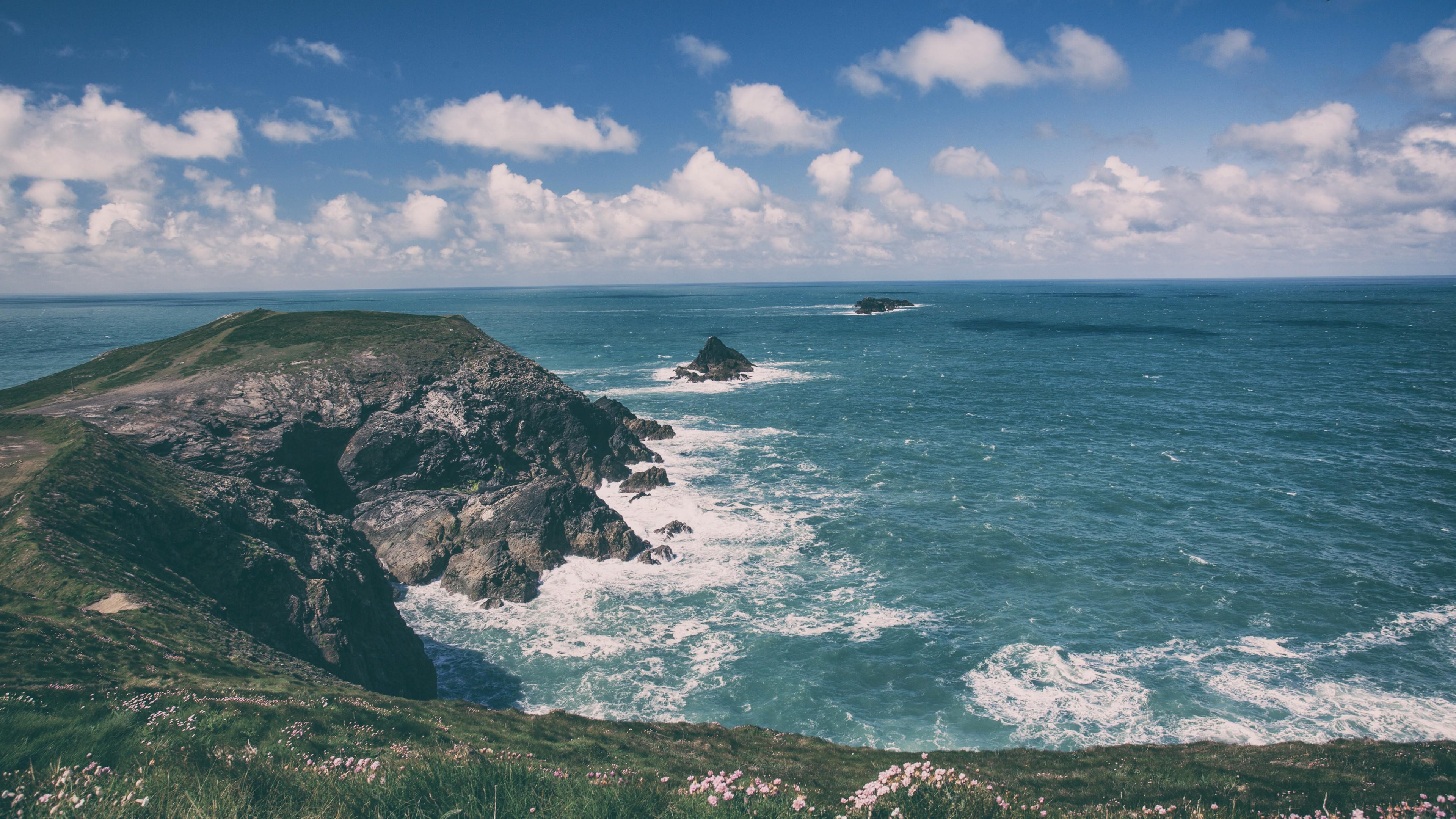 Game Quotes Wallpaper Wallpaper Cornwall 5k 4k Wallpaper England Coastline