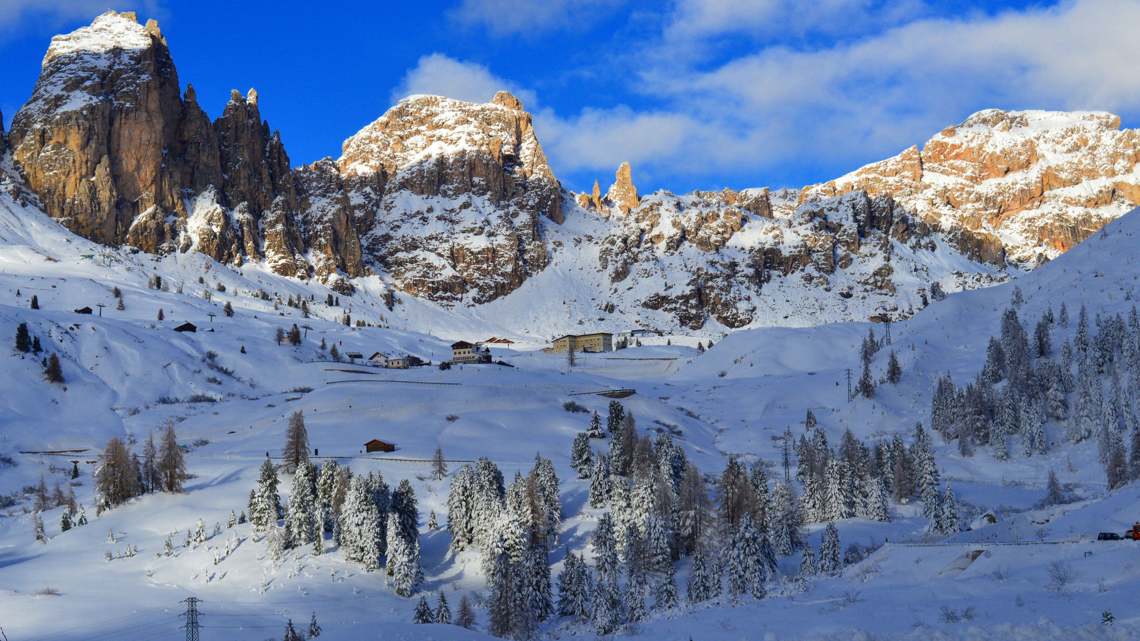 Flowers Hd Wallpapers With Quotes Wallpaper Dolomites Alps Mountains Snow Winter Trees