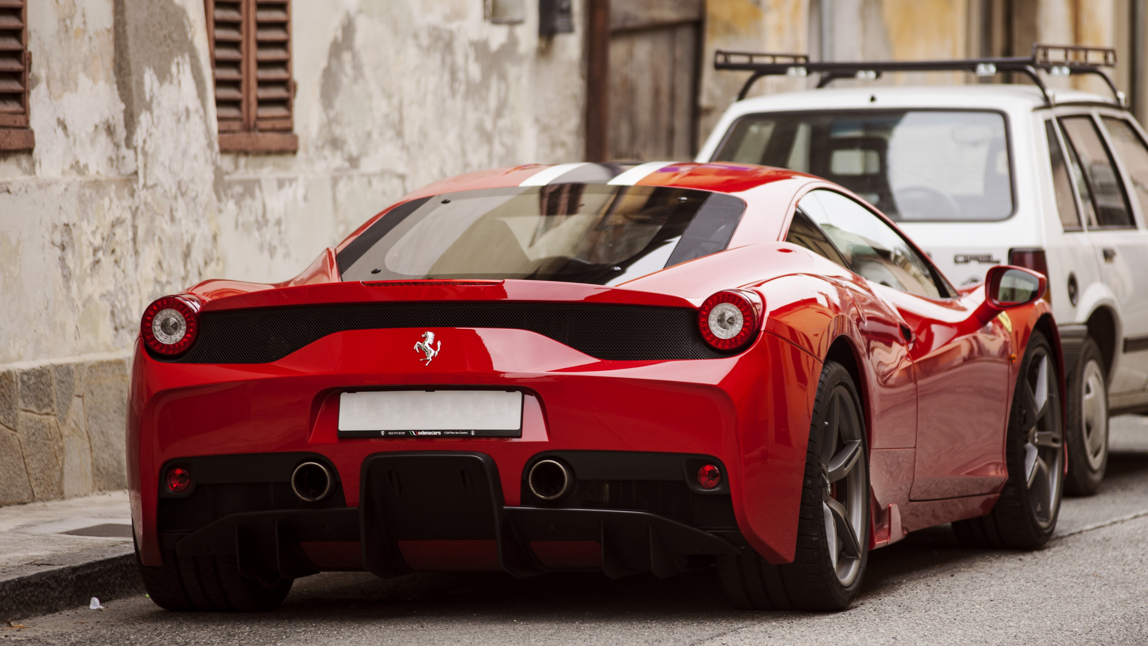 Project Cars Wallpaper Red Wallpaper Ferrari 458 Speciale Supercar Back View Red