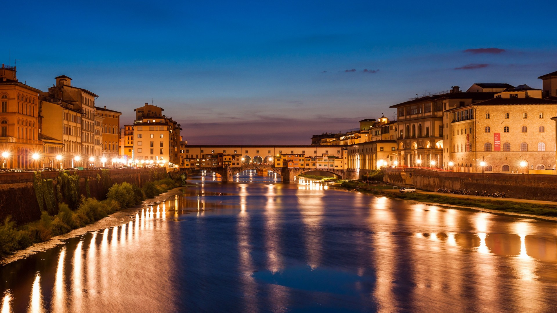Landscape Wallpaper Hd Wallpaper Florence Italy Night Tourism Travel