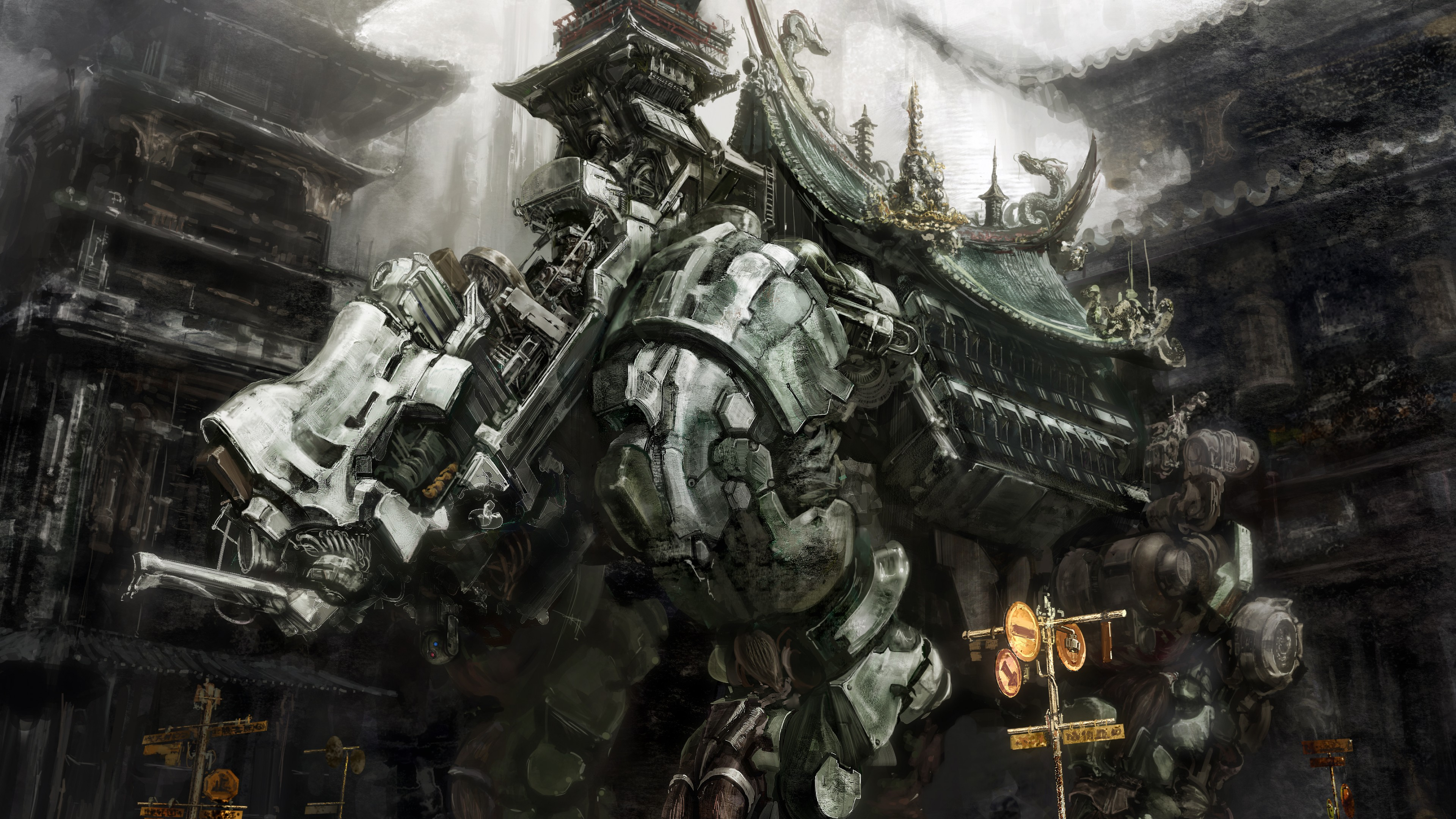 Sports Quotes Wallpapers Hd Wallpaper Futuristic Mecha Grey Artwork Anime Art