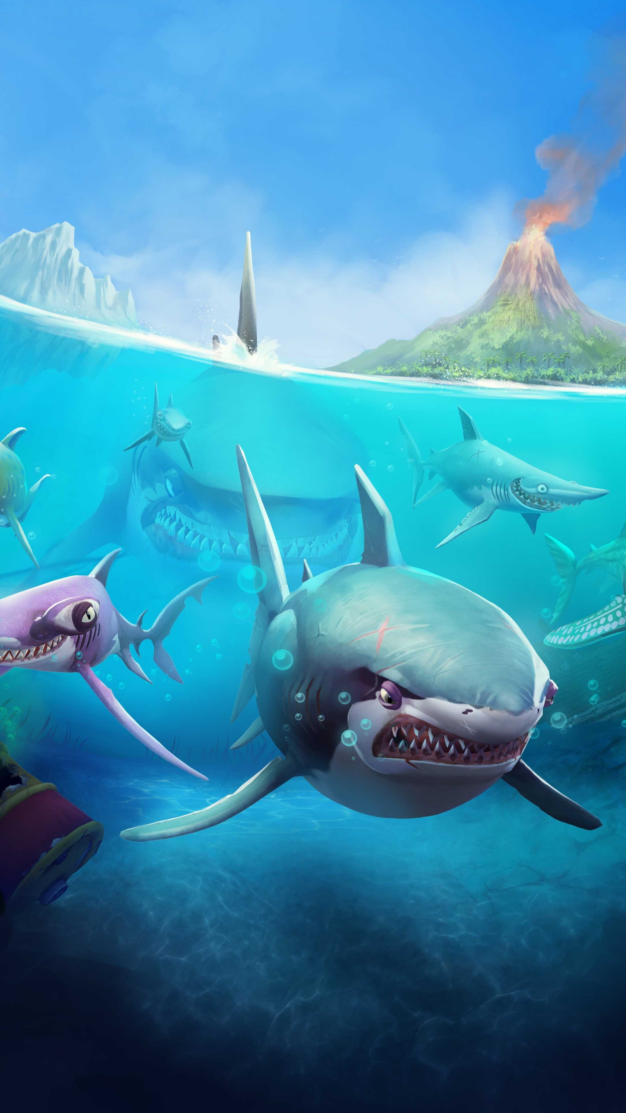 Cute Winter Pc Wallpapers Wallpaper Hungry Shark World Ios Android Shark Games