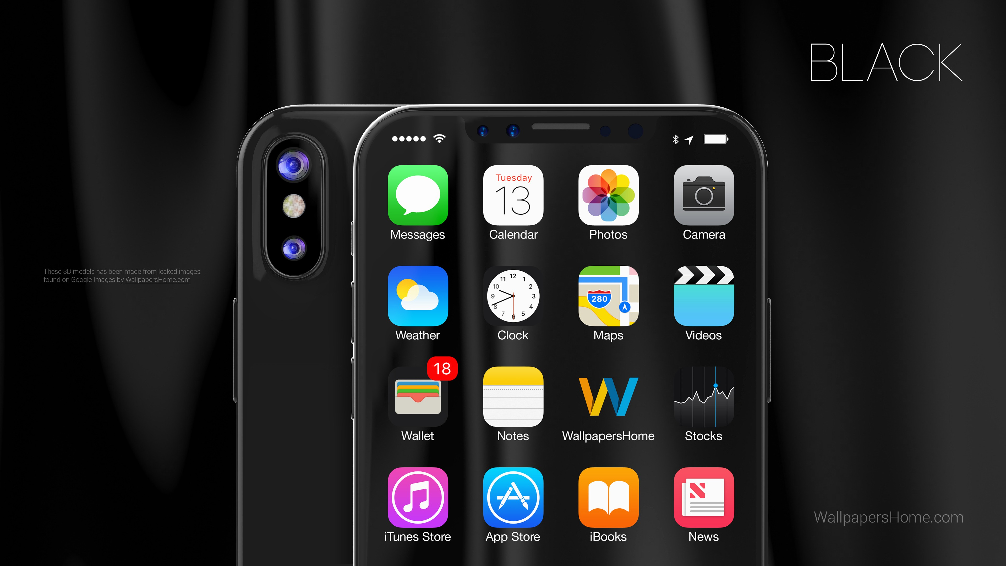 Awesome Phone Wallpapers Quotes Wallpaper Iphone X Black 3d Leaked Wwdc 2017 4k Hi