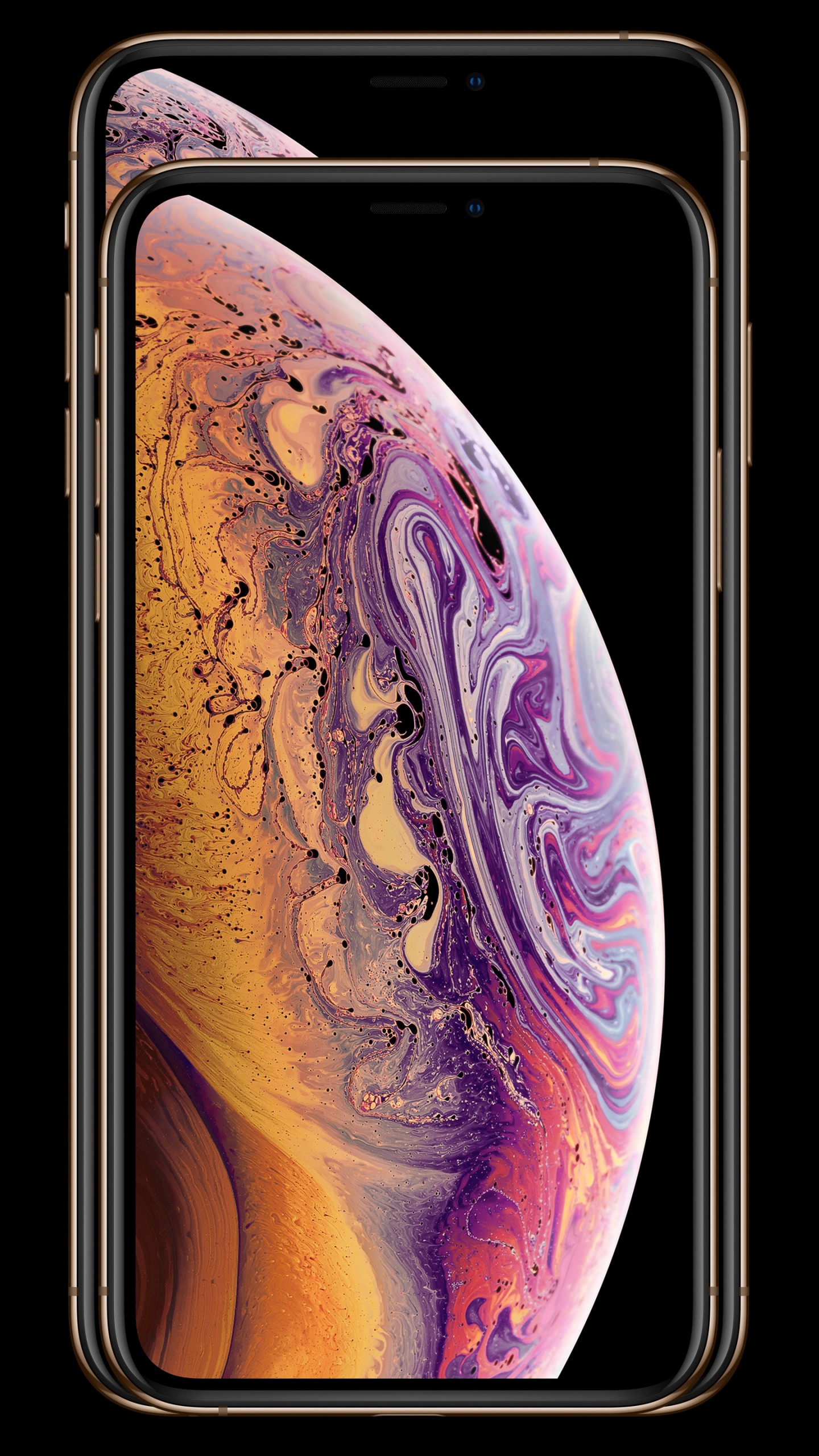 Ios 12 Wallpaper For Iphone X Wallpaper Iphone Xs Iphone Xs Max Gold Smartphone 5k