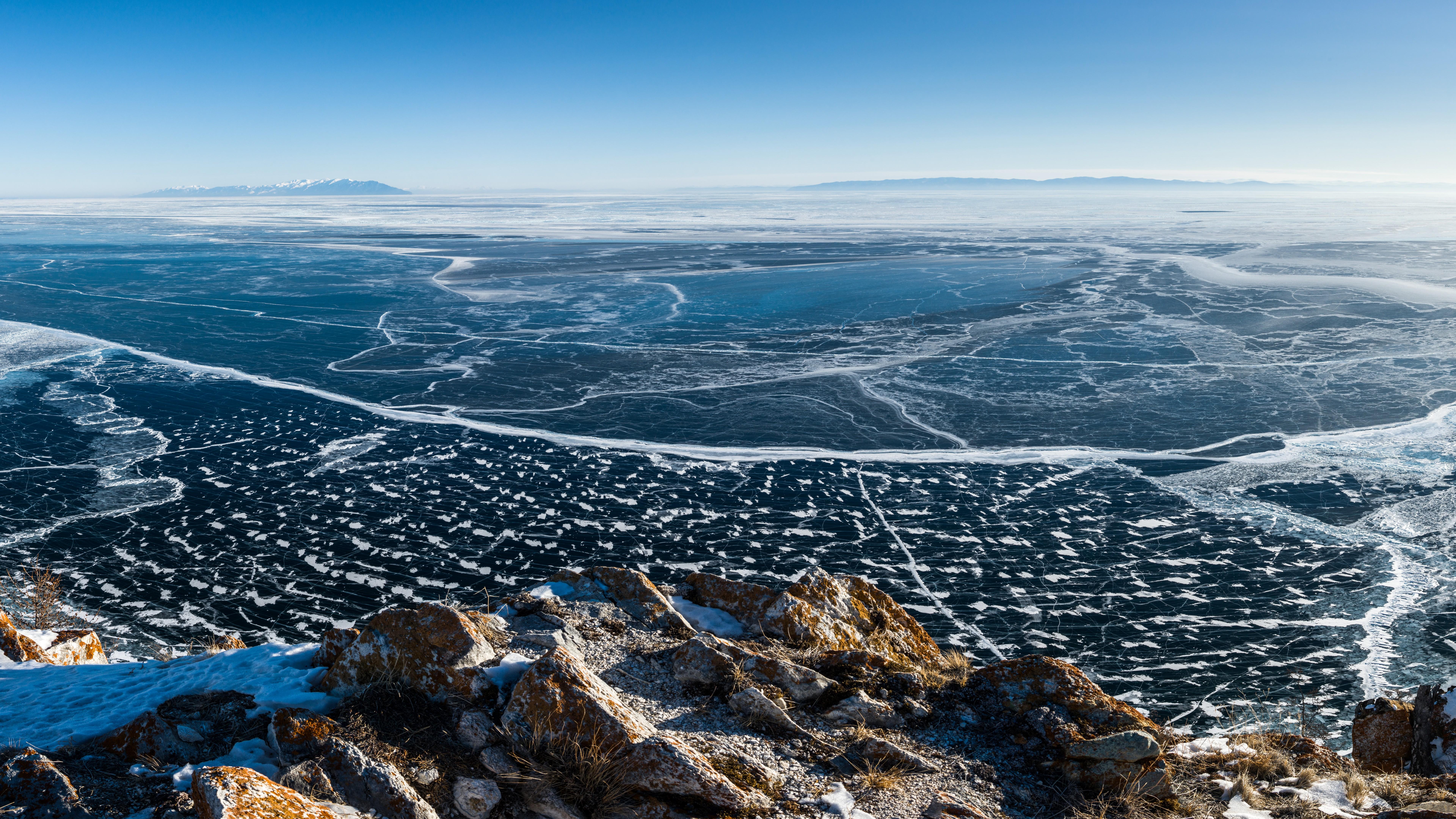 Sci Fi Wallpaper Hd Wallpaper Lake Baikal Ice 8k Nature 15672