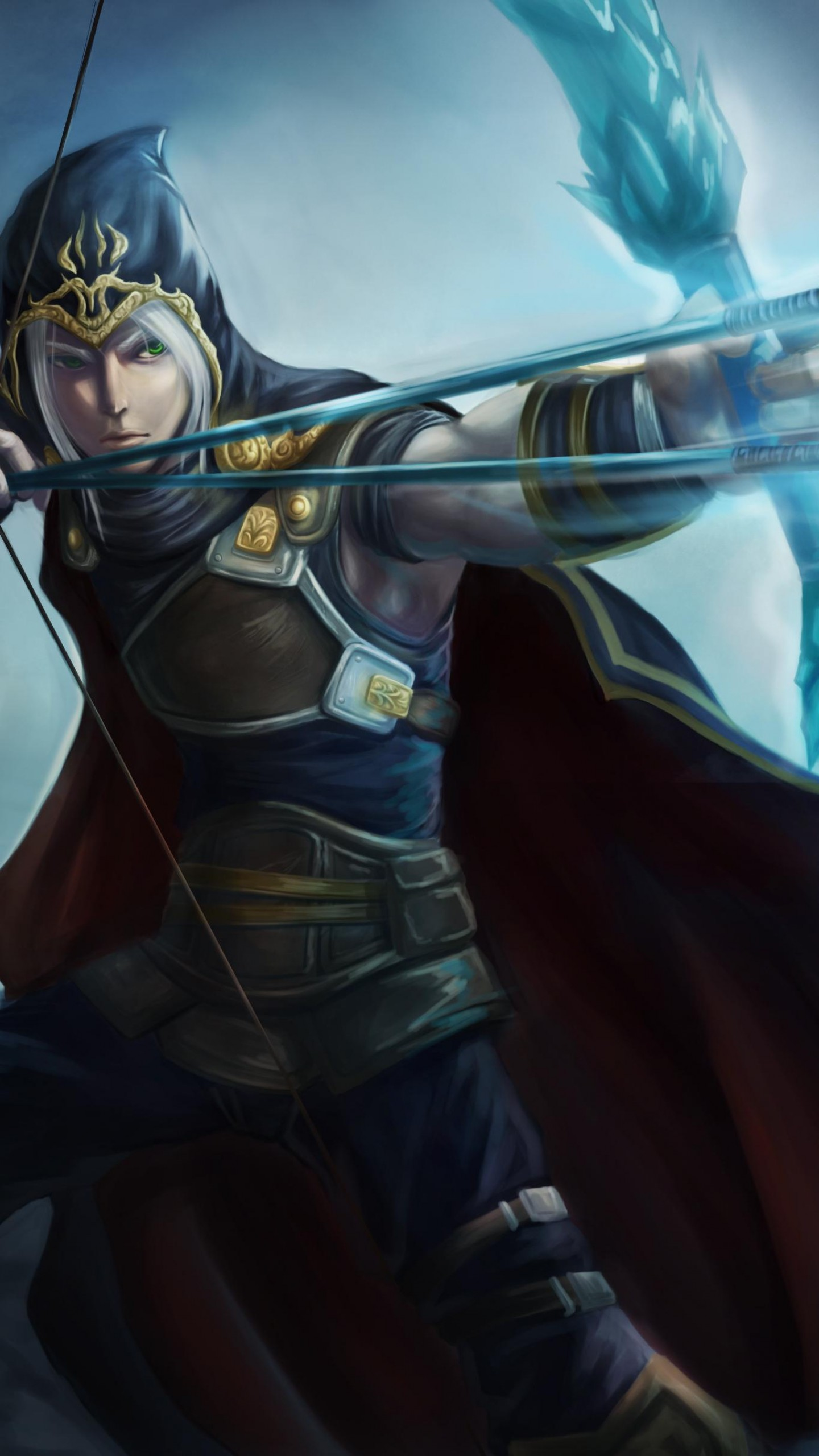 Draven And Girls Wallpaper Wallpaper League Of Legends Game Lol Moba Archer