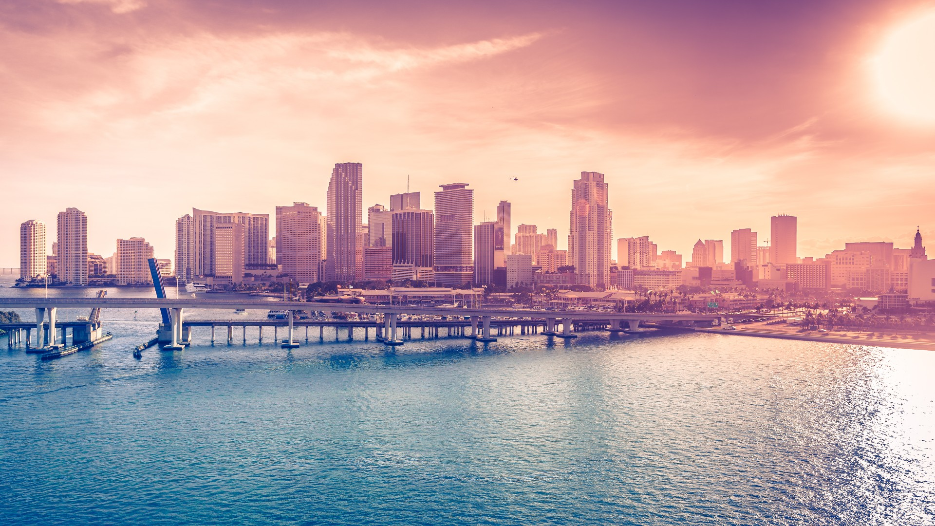 New Year 2015 Hd Wallpaper With Quotes Wallpaper Miami Florida Usa Downtown Sea Ocean Water