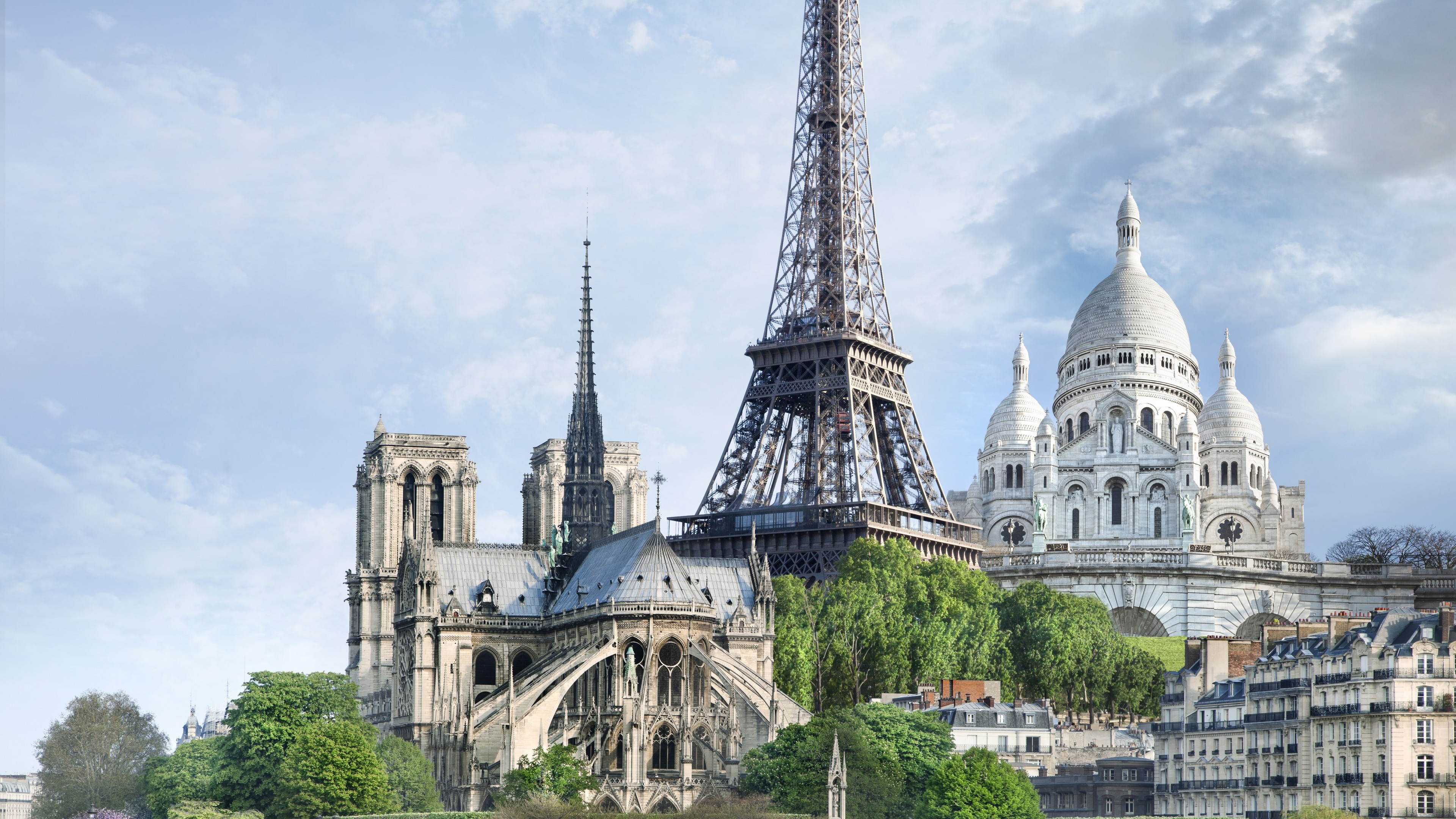 Wallpaper Paris France monuments travel tourism