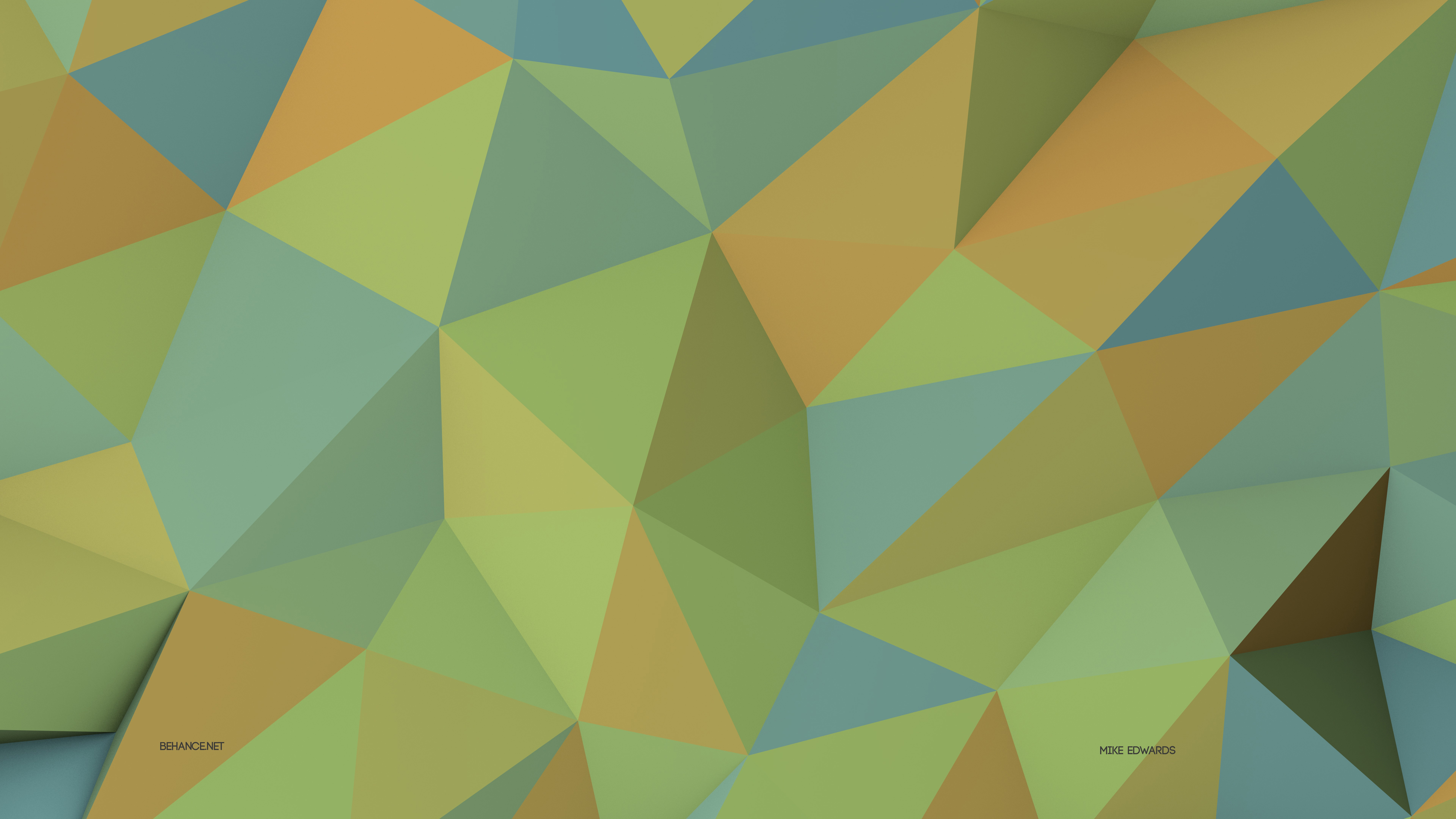 Agreen And Blue Cute Wallpaper Wallpaper Polygon 4k 5k Wallpaper 8k Green Yellow