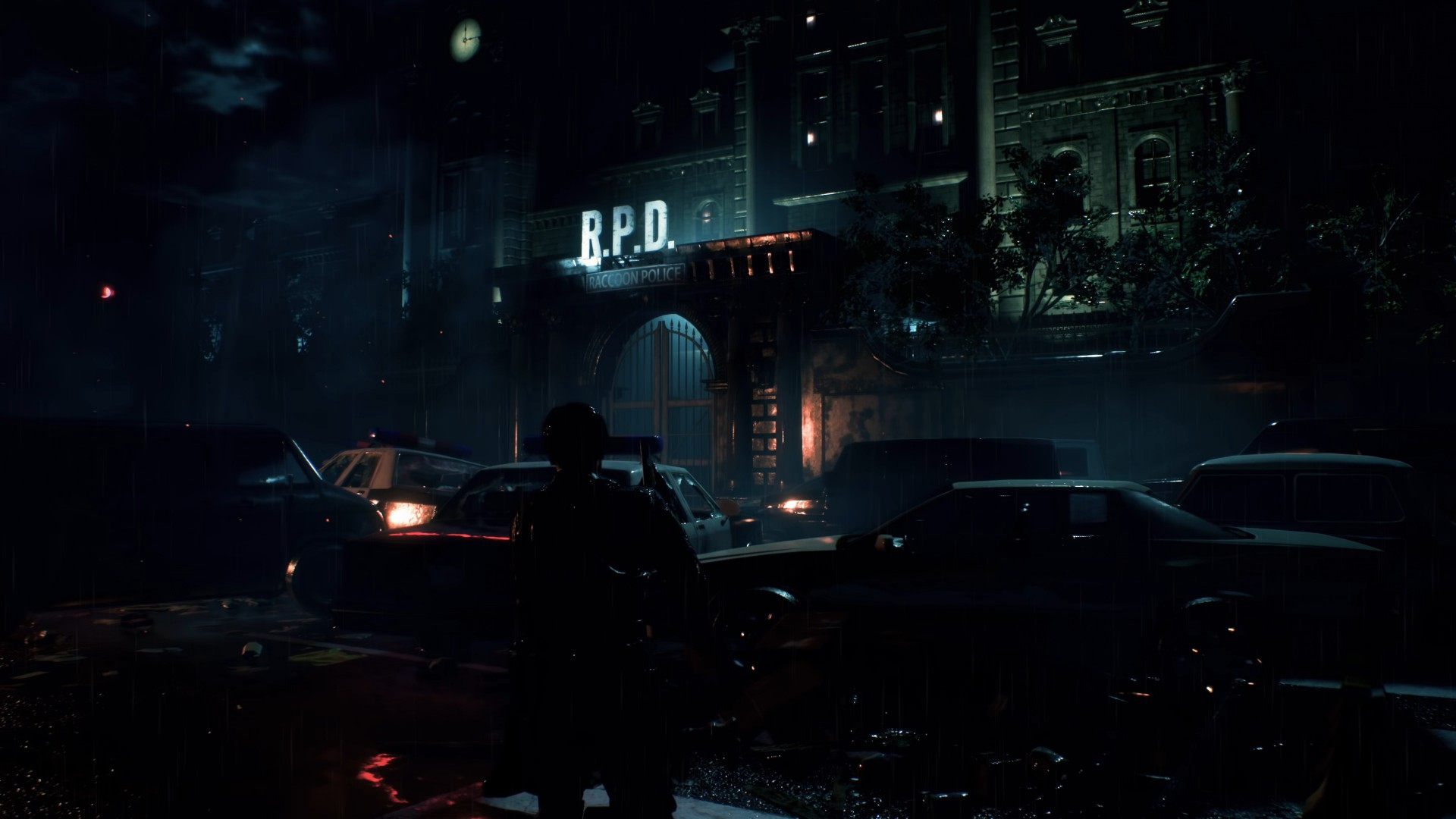 Hd Wallpaper Police Cars Wallpaper Resident Evil 2 E3 2018 Screenshot 4k Games