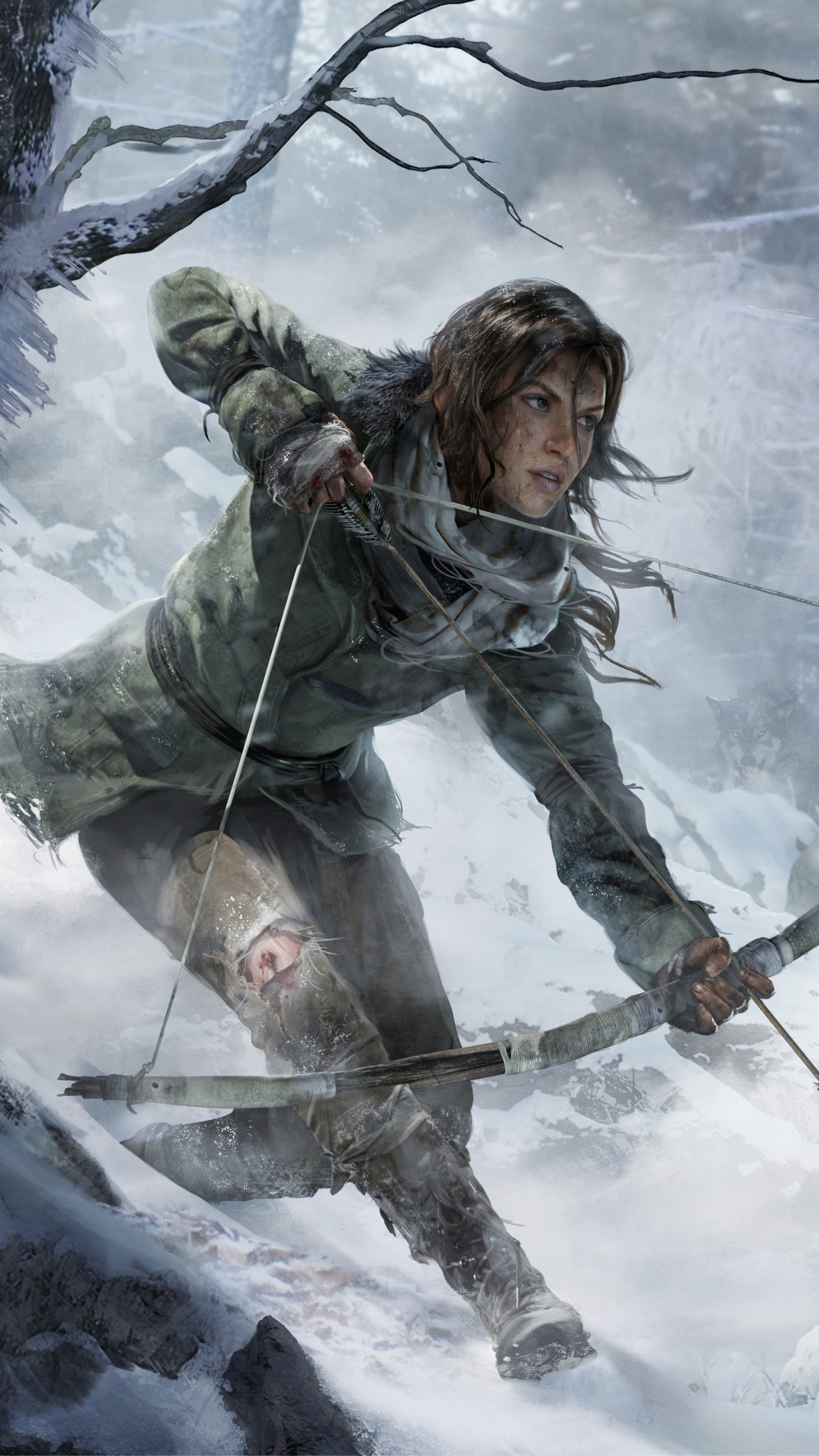 Cool Quotes Wallpapers For Iphone Wallpaper Rise Of The Tomb Raider Game Forest Snow Bow