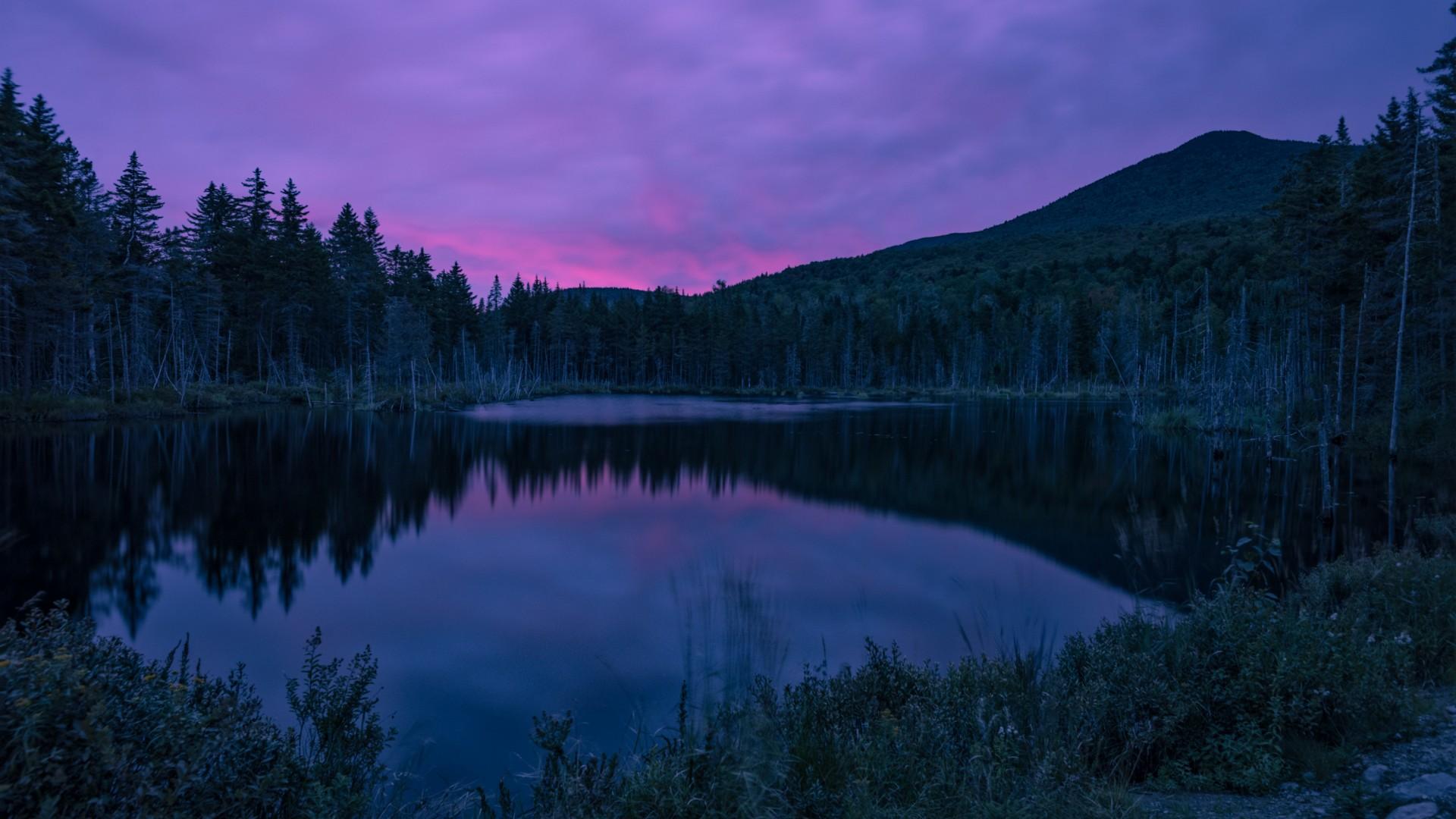 Mountain Sky Night Lake