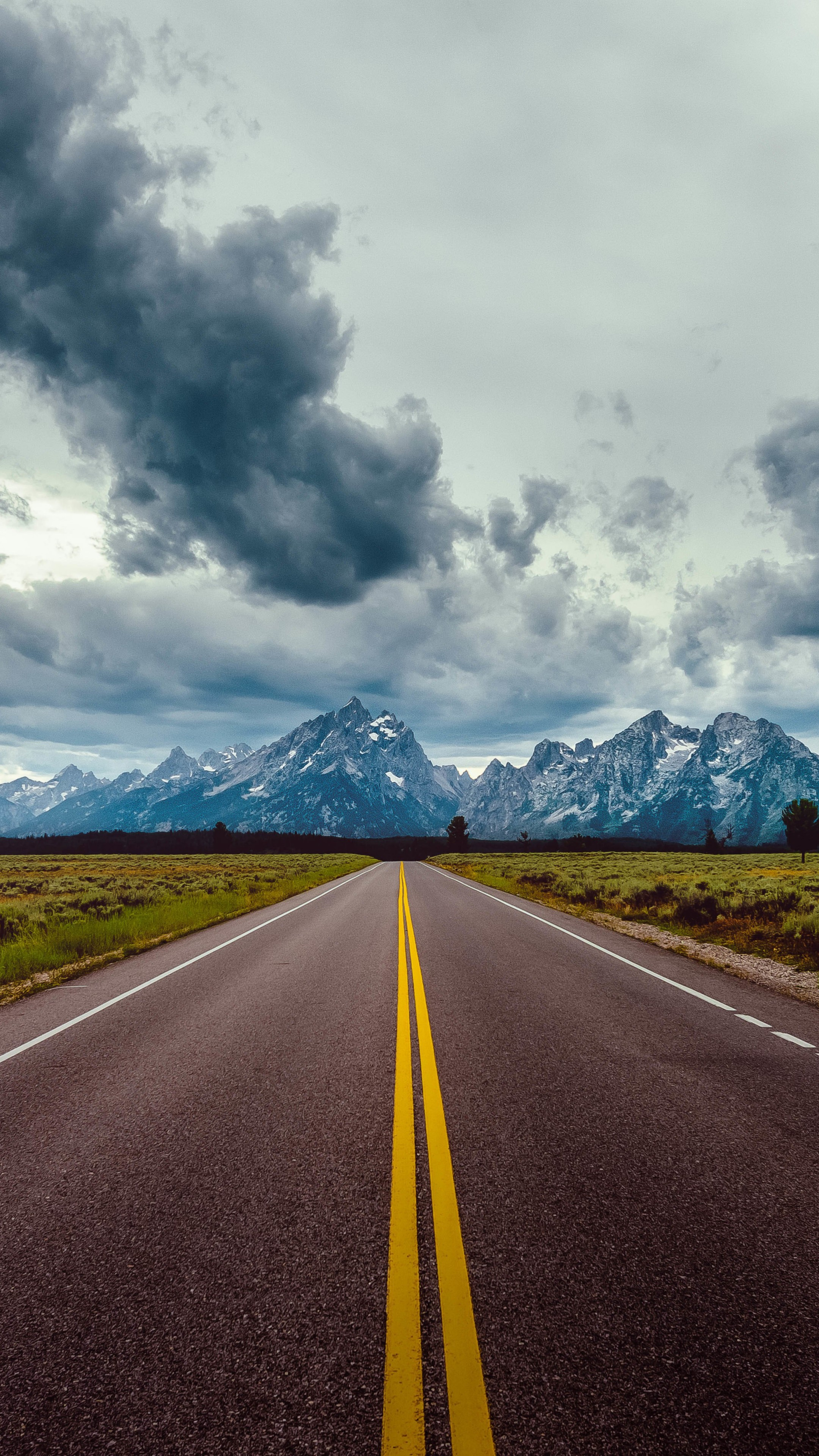 Wallpaper Road Sky Clouds Mountains 8k Nature 17775