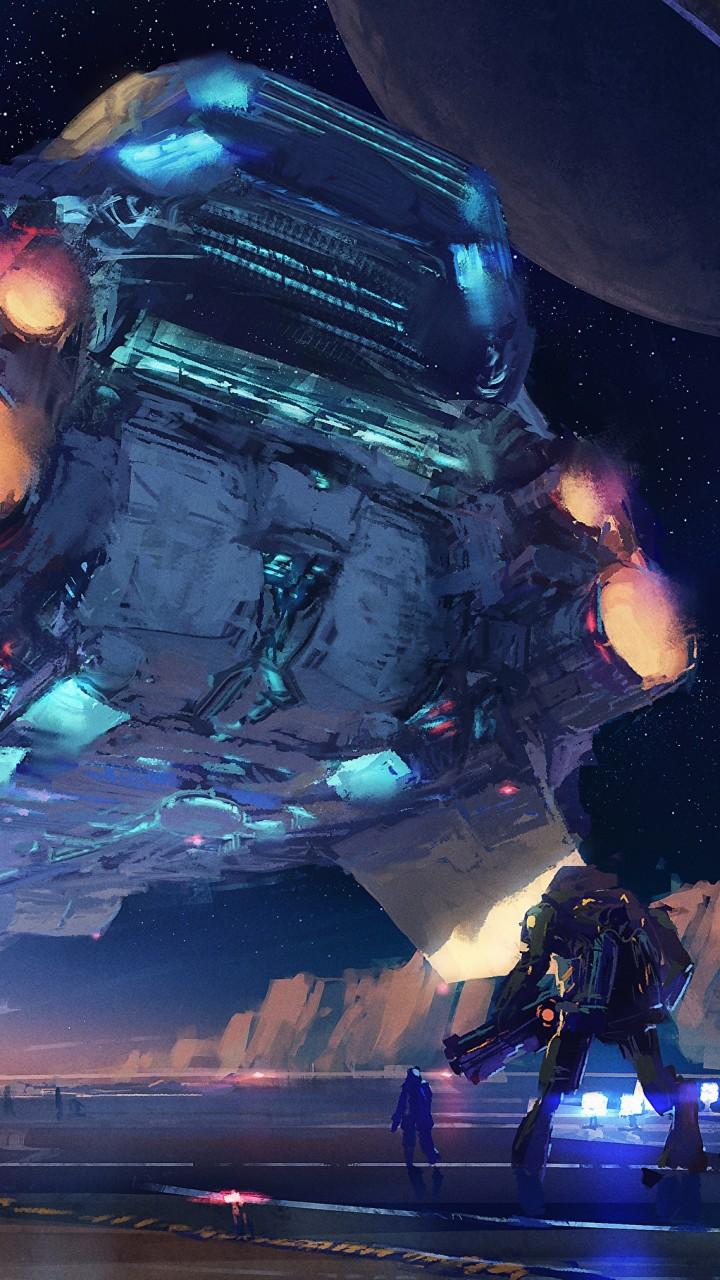 Soldier Girls Wallpapers Wallpaper Spaceship Futuristic Space 4k Art 20152
