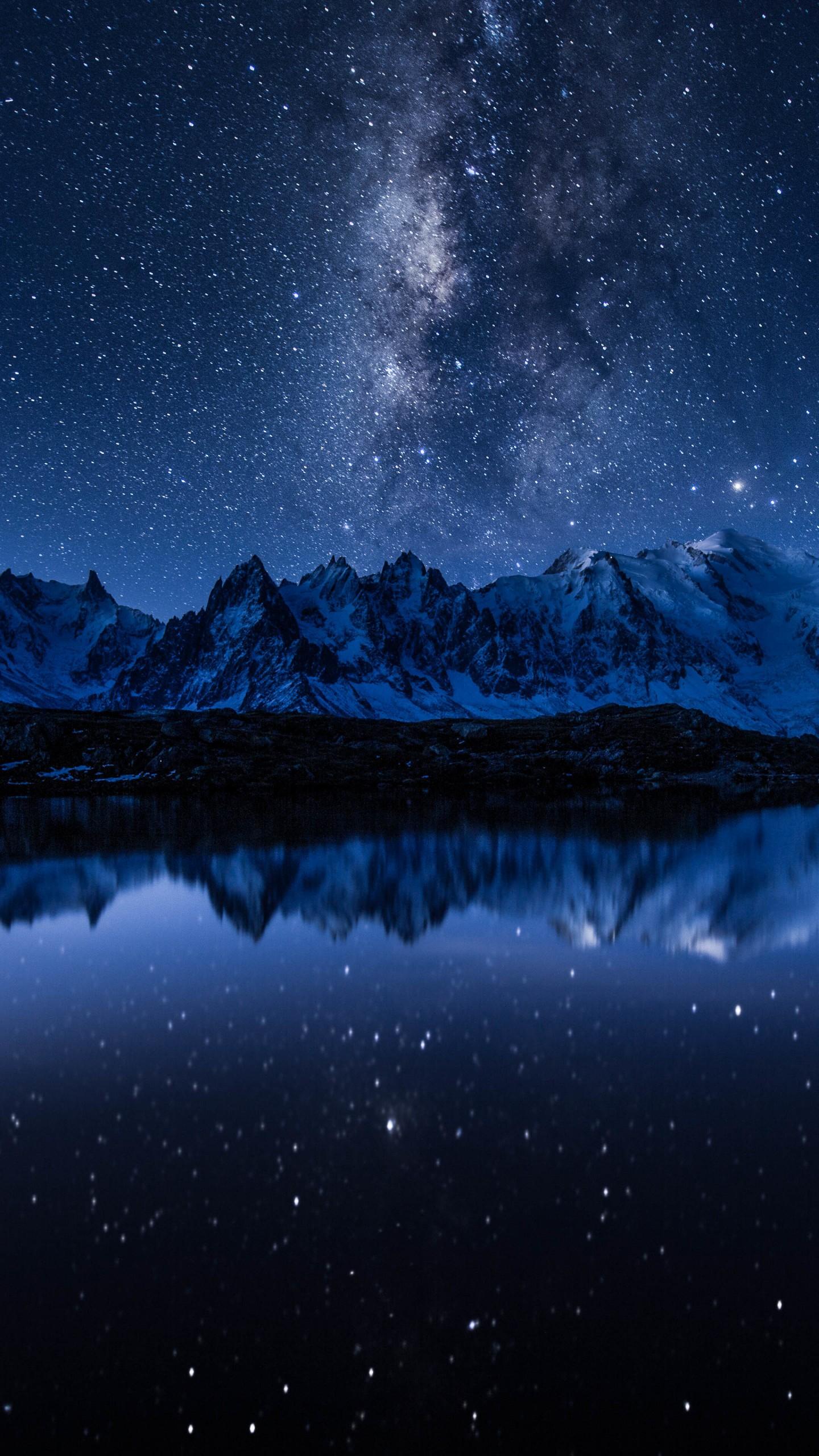 Anime Cellphone Wallpaper Wallpaper Stars Mountains Lake 5k Space 17391