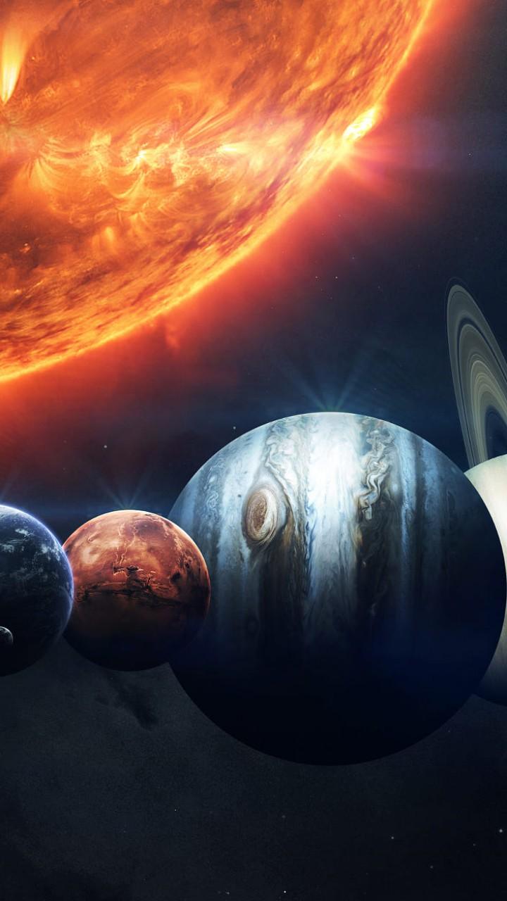 Wallpapers For Girls Iphone 3d Wallpaper Sun Planet Hd Space 16032
