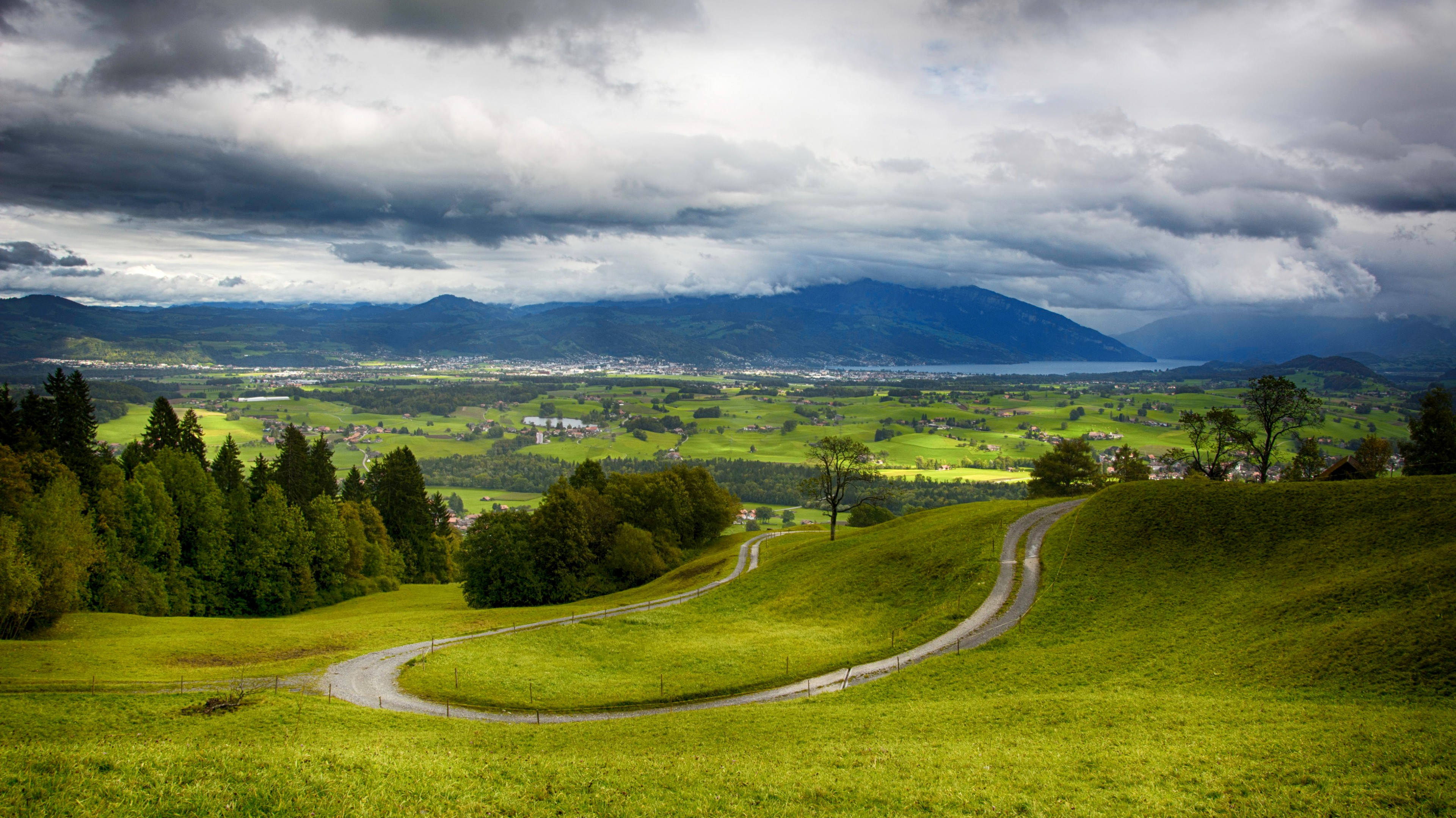 Wallpaper Switzerland 4k HD wallpaper hills mountains