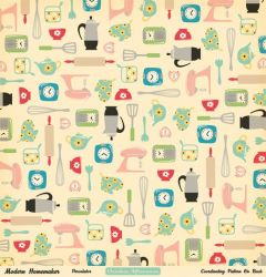kitchen patterns pattern paper backgrounds wallpapers background cute fabric retro clipart scrapbook iphone 50s found visit farm 1950s kitchens octoberafternoon