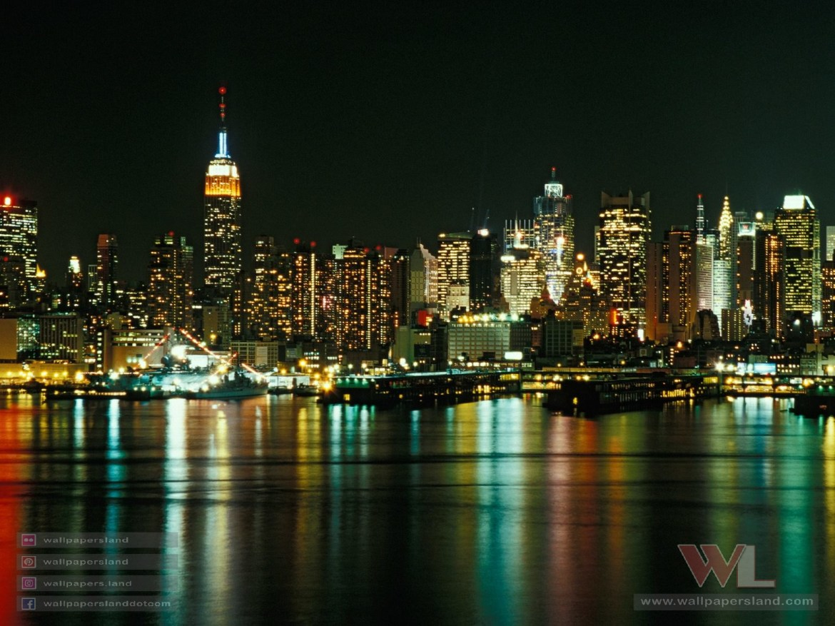 New York City Skyline as Seen From Weehawken, New Jersey