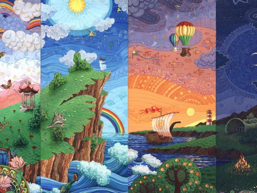 Cute Wallpaper Galaxy S4 Desktop Wallpaper Seasons Abstract Fantasy Landscape