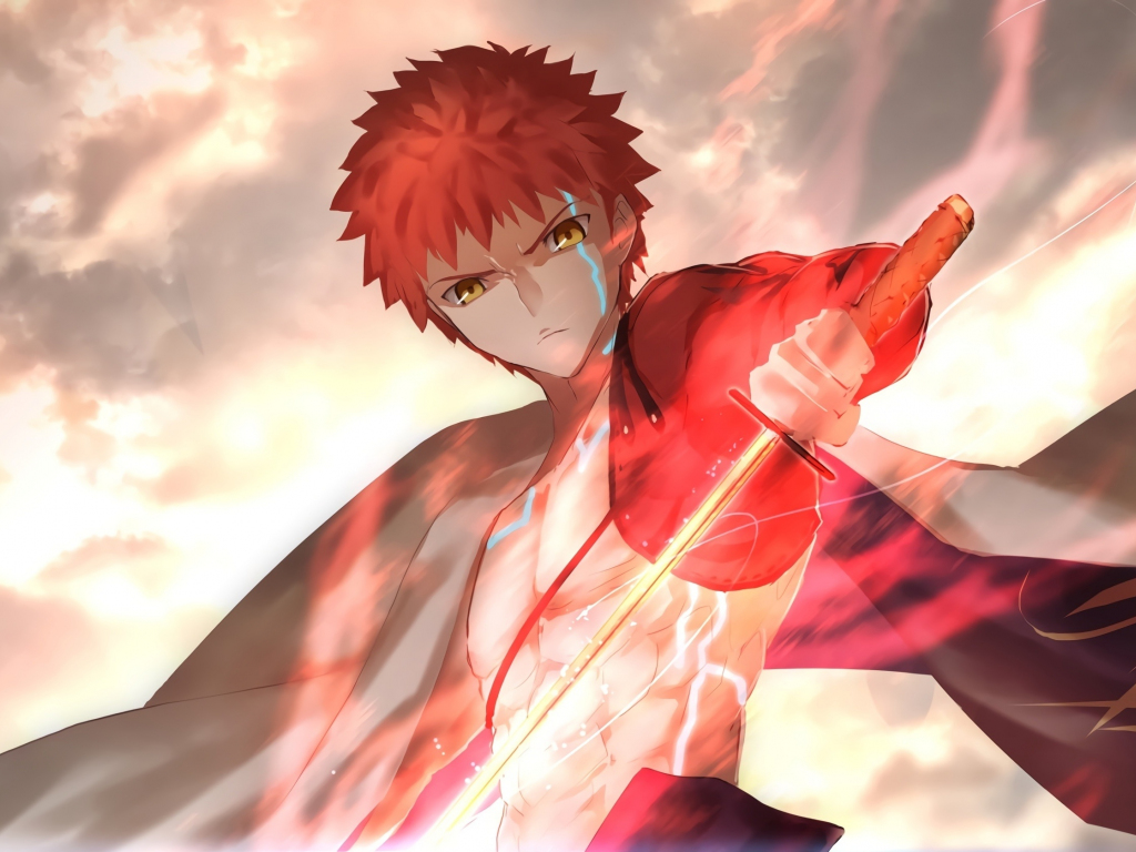 Samsung Galaxy S4 Wallpapers Hd Download Desktop Wallpaper Sword Of Fire Anime Boy Warrior Fate