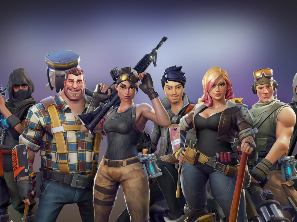 Desktop Wallpaper All Characters Video Game Fortnite Hd