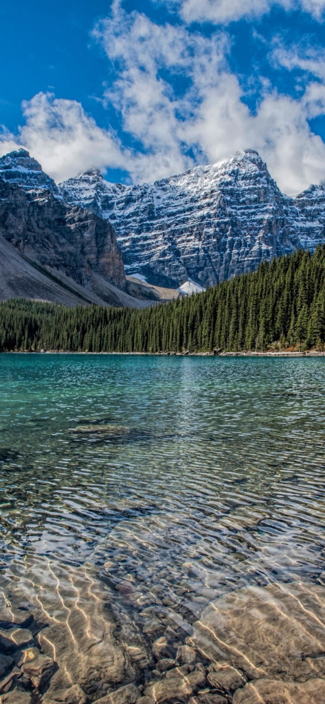 Samsung Galaxy S7 Edge Fall Wallpaper Download 1125x2436 Wallpaper Clean Lake Mountains Range