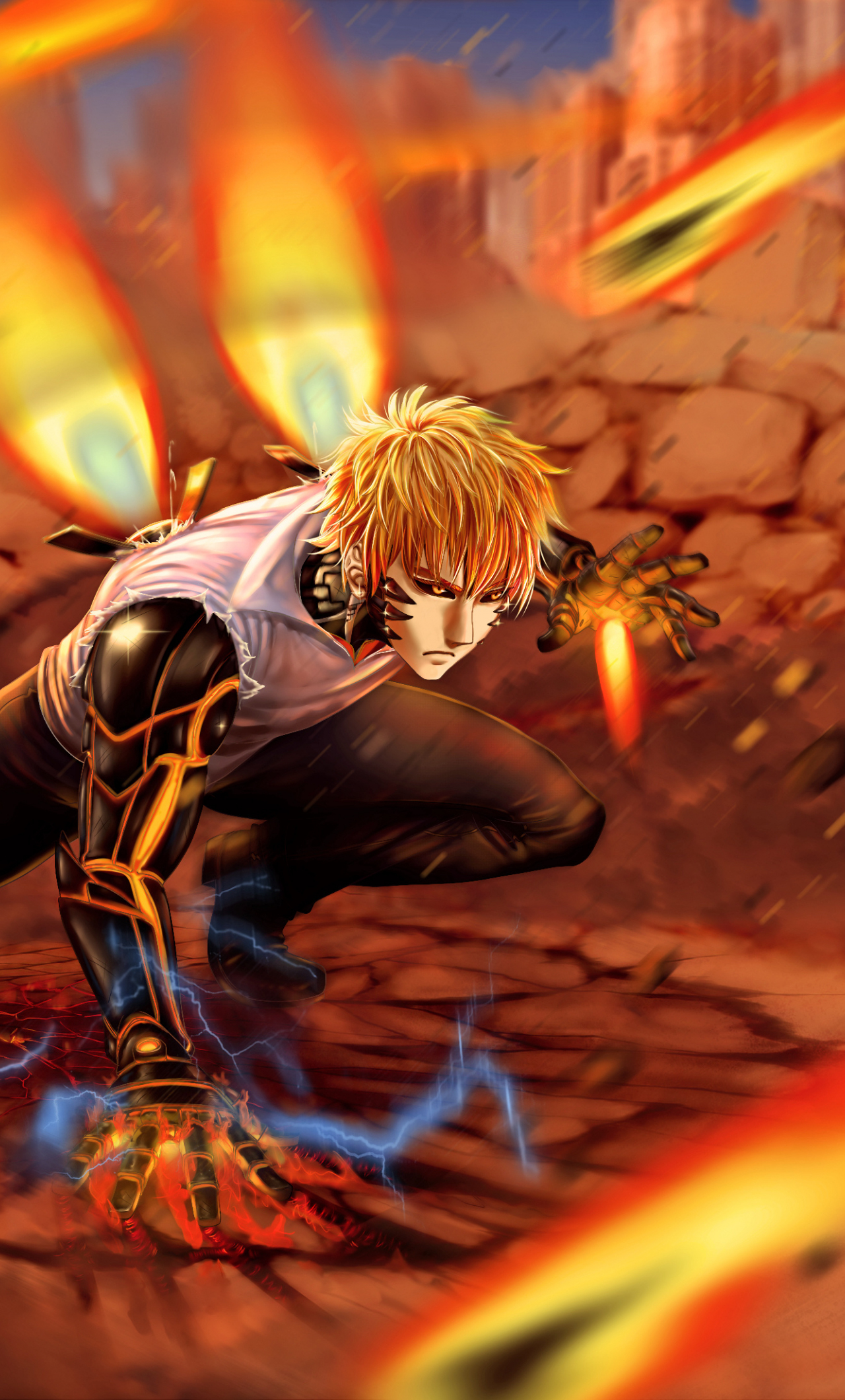 Collected 250 one punch man wallpapers and background picture for desktop & mobile device. Angelanne: Home Screen One Punch Man Wallpaper Phone