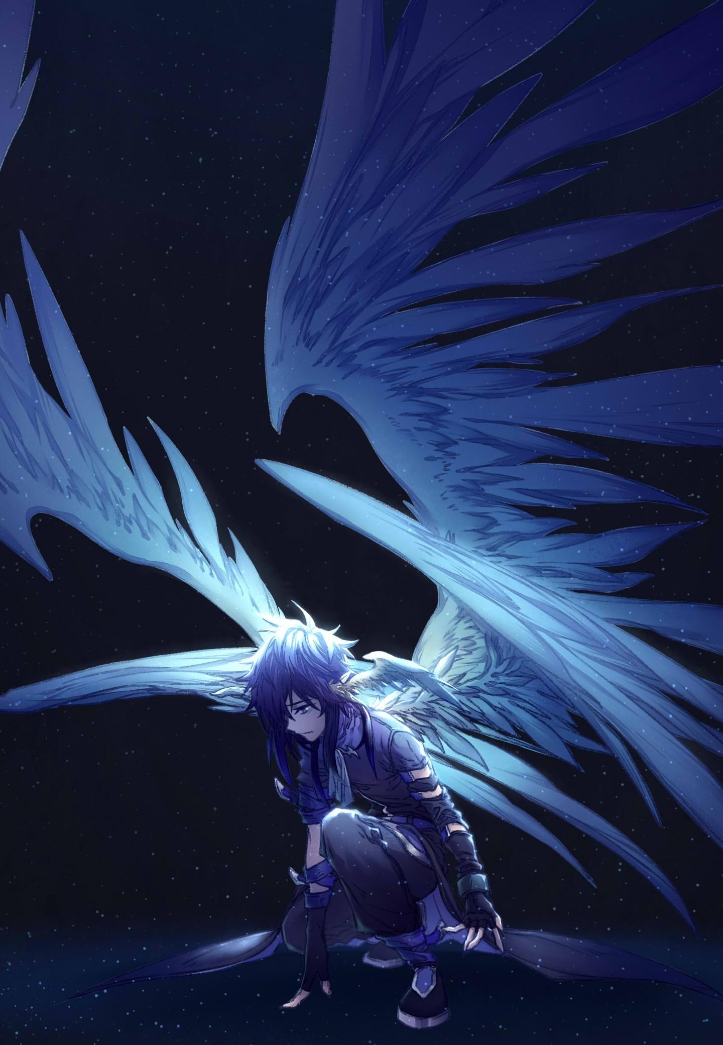 dark wings angel anime