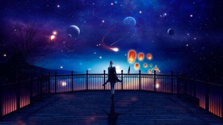 anime fantasy space outdoor background woman planets hd wallpapersmug fhd 1080p desktop