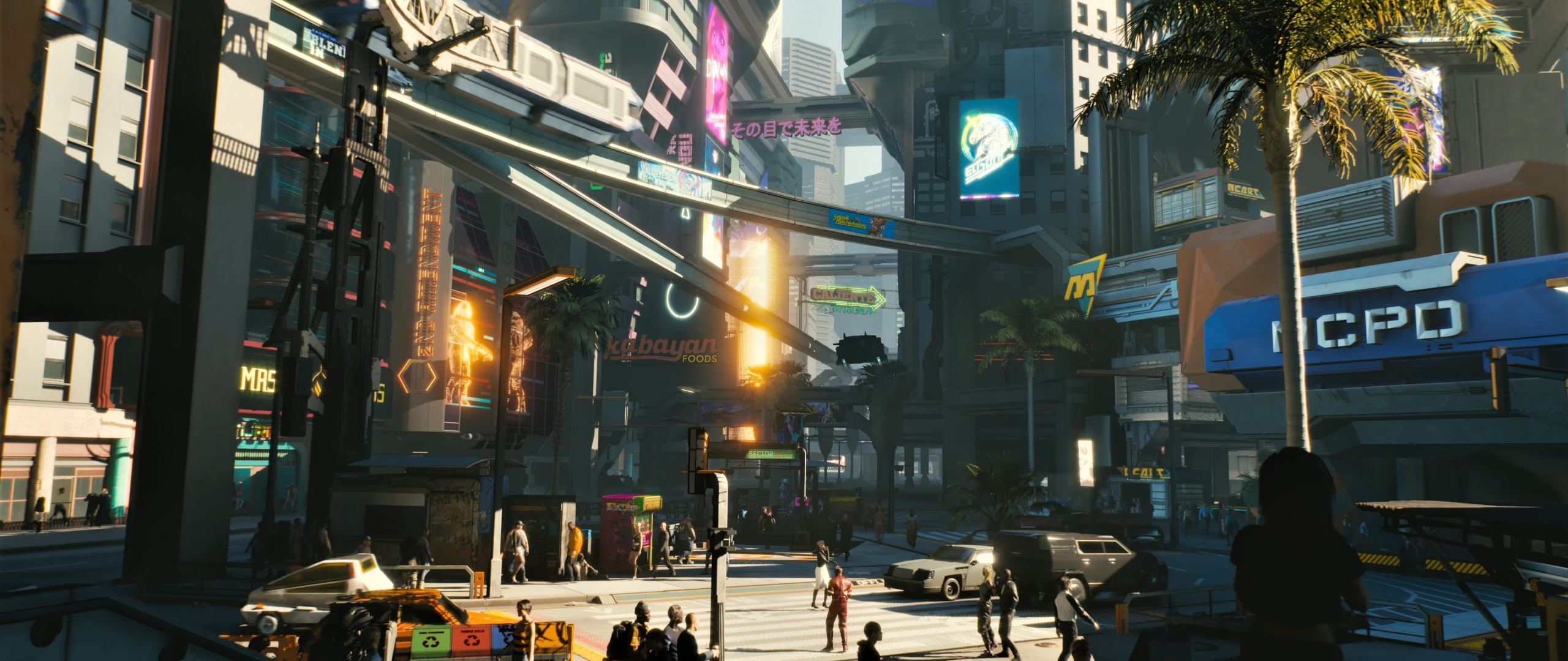 Download 2560x1080 Wallpaper Modern City Cyberpunk 2077