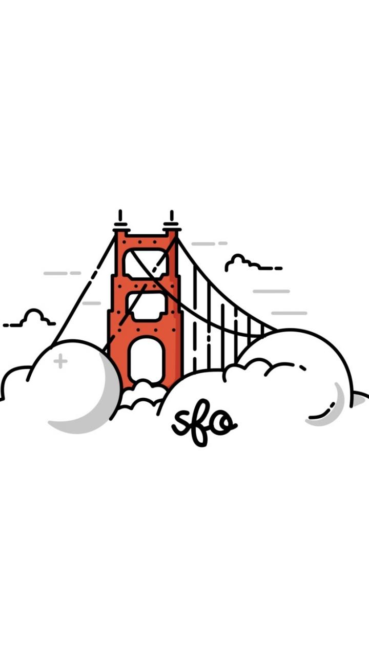 Download 720x1280 wallpaper golden gate bridge, clouds
