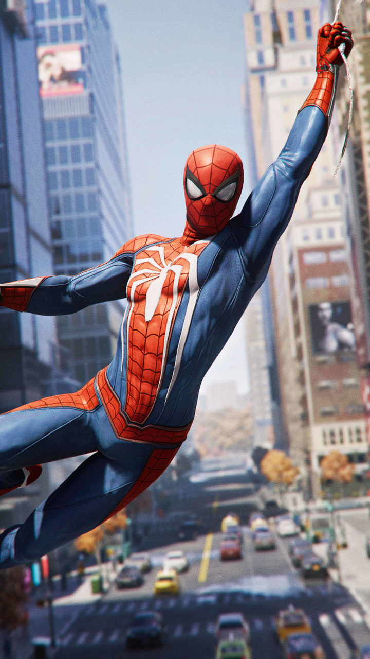 God Of War 4 Wallpaper Iphone X Download 720x1280 Wallpaper Spider Man Ps4 Video Game
