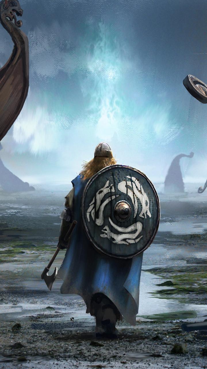 Cute Dual Screen Wallpaper Download 720x1280 Wallpaper Viking Warrior Fantasy Art