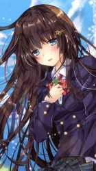 anime dark hair female orginal galaxy hd asus