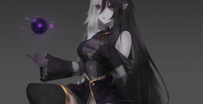 Cute Earphones Wallpaper Desktop Wallpaper Devil Anime Girl Magic Dark Hd Image