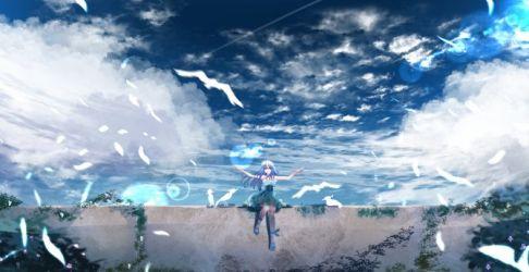 Desktop wallpaper beautiful scenery anime outdoor anime girl hd image picture background 23ba13